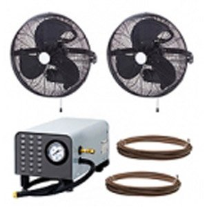 MEDIUM PRESSURE 300psi - 18'' 2/4 Fan Wall Mount Mist Kits fully enclosed pump by Advanced Systems