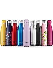 Proworks Edelstahl Trinkflasche 24 Std. Kalt und 12 Std. Heiß - Premium Vakuum Wasserflasche - Perfekte Isolierflasche für Sport, Laufen, Fahrrad, Yoga, Wandern und Camping - 500ml / 750ml / 1 Liter