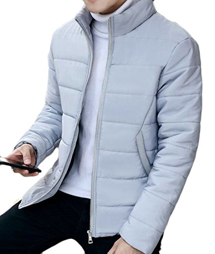 Brd Men's Grey UK Winter Jackets Outerwears Light Down Zipper Stand Hot Overcoat Collar HqZwadxHE