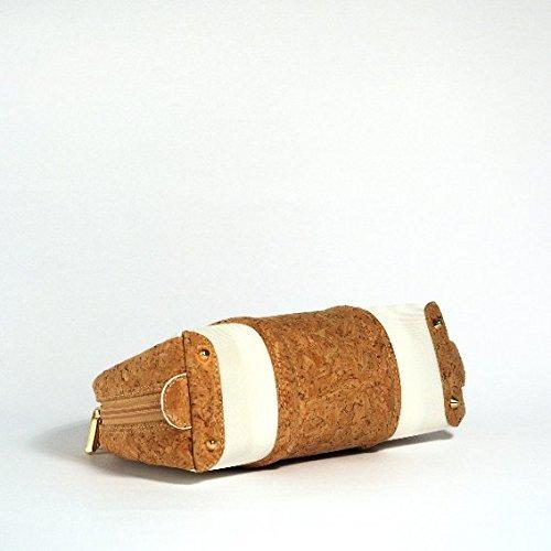 stileclettico - Cartera de mano de tela para mujer Sughero
