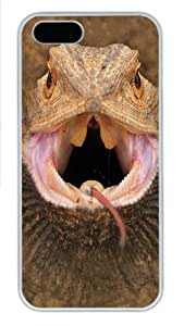 Big Face Bearded Dragon Custom iPhone 5s/5 Case Cover Polycarbonate White,Original Design