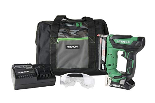 Hitachi NP18DSAL Cordless 23 Gauge Pin Nailer Kit, 18V, Compact 3.0 Ah Lithium Ion Battery, No Push Safety Nose Tip (Certified Refurbished)