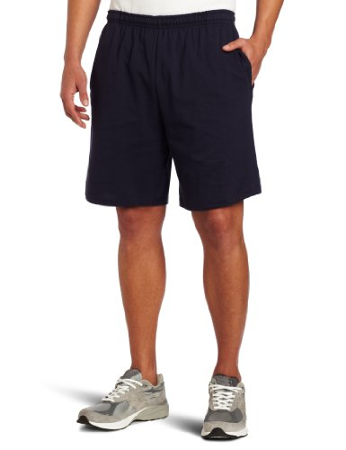 Soffe Men's Classic 100% Cotton Pocket Short Navy Large