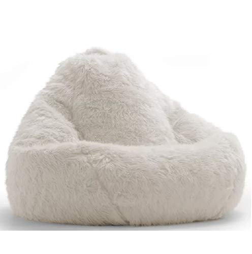 Nexis Sundry Fully Comfortable & Washable White Velvet Replacement Bean Bag Cover Only Without Beans XXXL
