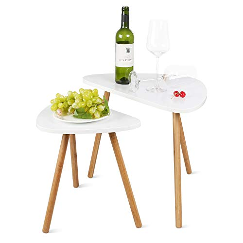 DOLDOA Coffee Table,Wood Owen Retro Side End Table with Solid Pine Legs,Living Room Side Table for Magazines,Books,Plants (2) (Living Room Pine)