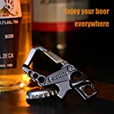 Hephis Heavy Duty Key Chain Bottle Opener,Carabiner Car Key Chains for Men and Women