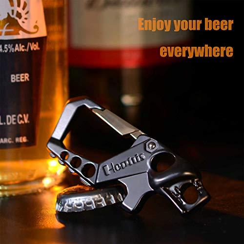 hephis Heavy Duty Key Chain Bottle Opener Carabiner Car Key Chains for Men Women