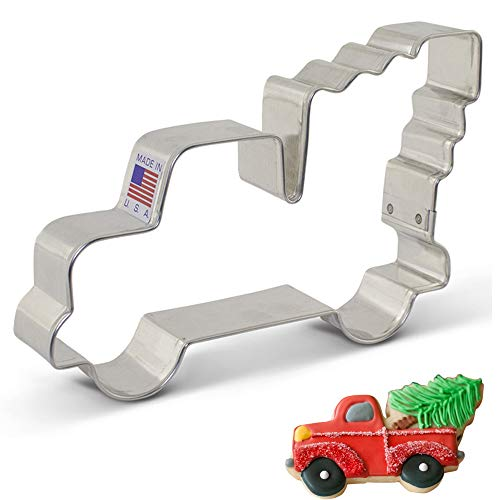 Halloween Movie Pumpkin Stencils (Ann Clark Cookie Cutters Extra Large Vintage Pickup Truck with Christmas Tree Cookie Cutter,)