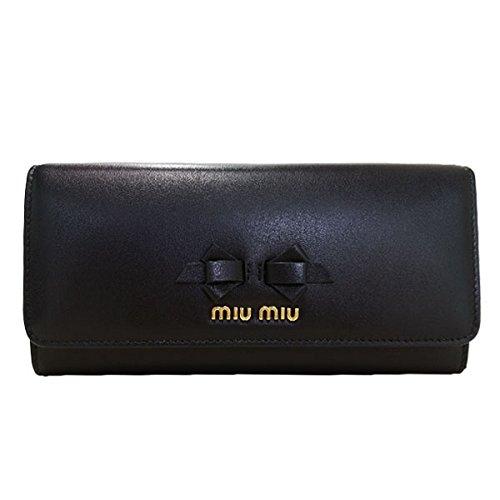 [ミュウミュウ] レディース 長財布  5MH109 UEI [並行輸入品] B077P36FCK ブラック ブラック