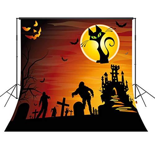 LB 10x10ft Halloween Photo Backdrop Ghost Dancing Tomb Cemetery Old Tree Photography Background Party Studio Prop Customized WSJ1375
