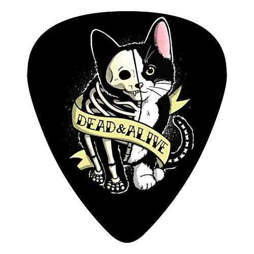 Schrodinger Cat Tattoo 351 Shape Medium Classic Celluloid Picks, 12-Pack, For Electric Guitar, Acoustic Guitar, Mandolin, And Bass