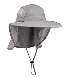 Lenikis Unisex Outdoor Activities UV Protecting Sun Hats with Neck Flap Black