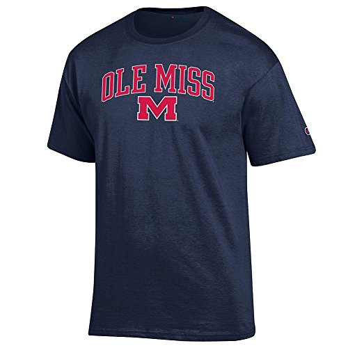 Misses Ribbed (Elite Fan Shop Mississippi Ole Miss Tshirt Varsity Navy - L)