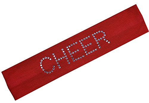 CHEER Rhinestone Cotton Stretch Headband (Red) Rhinestone Stretch Band