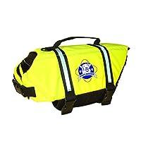 Patas a bordo del diseñador Doggy Life Jacket, amarillo neón, pequeño