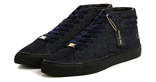 True Religion Mens Hexagonal V1 Haut Top Denim Chaussures En Indigo