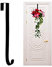 """15"""" Black Wreath Hanger for Front Door, Christmas Wreaths Decorations Hook"""