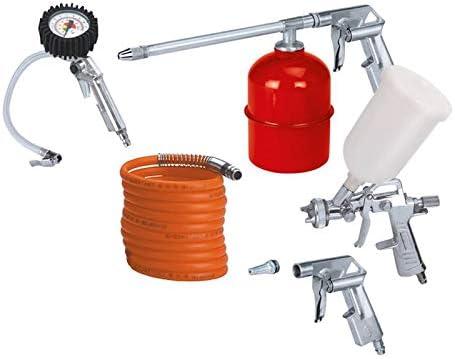 5 piezas de compresor de aire pistola para manguera de jardín para manguera neumática Herramientas de Aire Accesorios