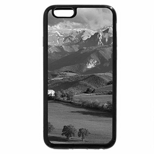 iPhone 6S Plus Case, iPhone 6 Plus Case (Black & White) - beautiful fields