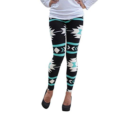 Winter Warm Leggings Pants,Hemlock Women's Geometric Printed Skinny Stcokings Stretchy Trousers (L, - Network Running Womens