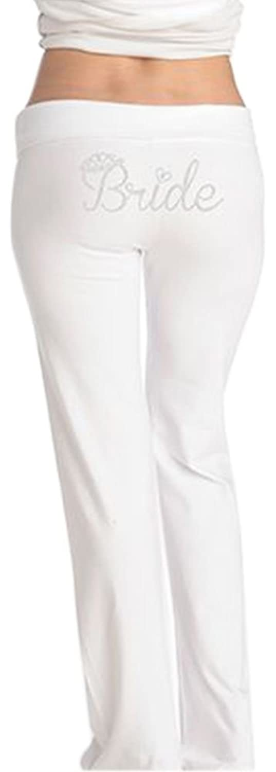 Bride Rhinestone Crown Yoga Pants Style D19PANT