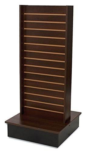 Rolling Slatwall Merchandise Display 2-Sided Retail Store Fixture US Made Chocolate New