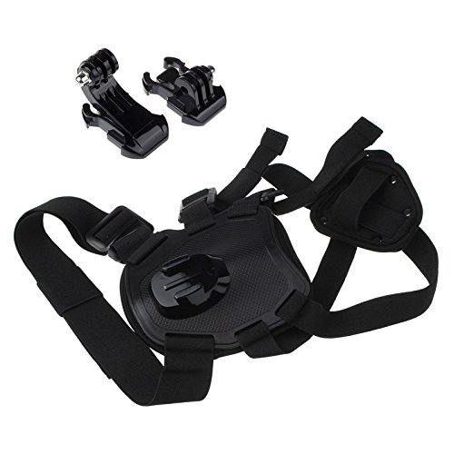 Aobiny Upgraded Version Hound Dog Harness Chest Strap Belt for GoPro Hero 4 3+ 3 (Pro Head Go Camera)