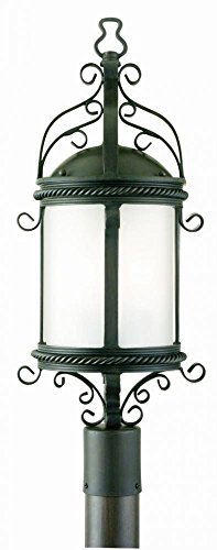 Pamplona Four Light - Troy Lighting Pamplona 4-Light Outdoor Post Lantern - Old Bronze Finish with Clear Seeded Glass