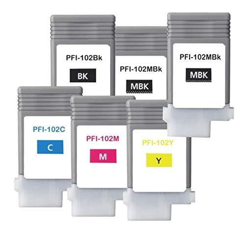 (Canon PFI-102 6-Pack - Compatible)