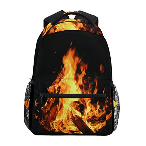 Women/Man Canvas Backpack Special Burning Flame Zipper College School Bookbag Daypack Travel Rucksack Gym Bag For Youth