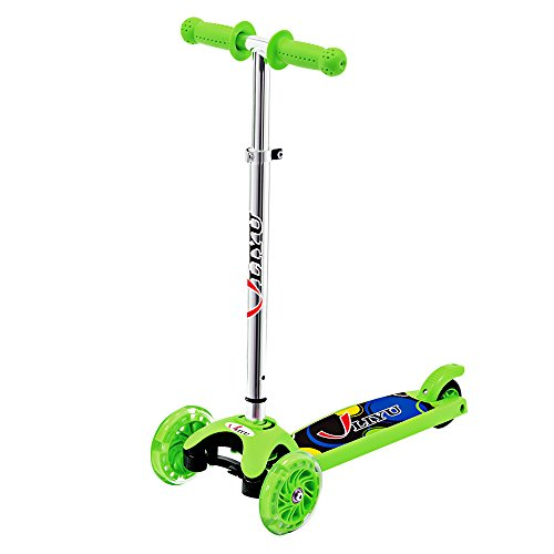 Children's Micro Mini Kick Scooter 3 wheels green scooters