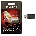 Samsung galaxy s9 memory card 64gb micro sdxc evo plus class 10 uhs-1 s9 plus, s9+, cell phone smartphone with everything but stromboli (tm) card reader (mb-mc64) 2 compatible with the samsung galaxy s9, s9 plus smartphones up to 100mb/s transfer speed great speed and performance for full hd video recording, high resolution pictures, mobile gaming, music and more.
