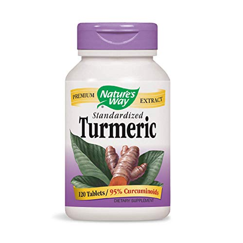 Nature's Way Standardized Turmeric; 95% Curcuminoids; TRU-ID Certified; Vegetarian, 120 Tablets (Packaging May Vary)