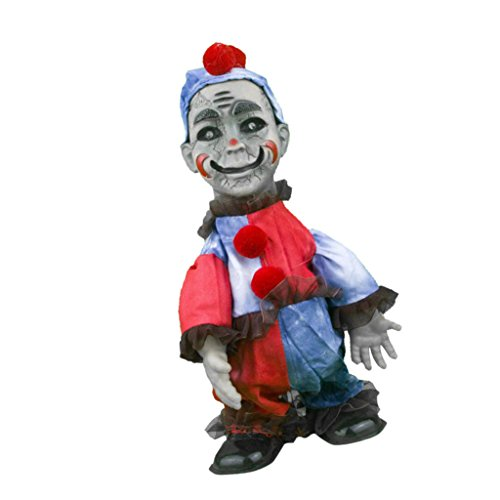 Fityle Walking and Screaming Clown Man Ghost Figure Halloween Prop Party Decoration