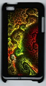 Abstract Fractals Mandelbrot Ipod Touch 4 Case with Black Skin Edges PC Hard Shell by Shariecover