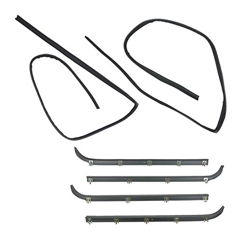 - 6pc Window Sweep/Run Channel Weatherstrip Set for F150 F250 F350 Pickup Truck
