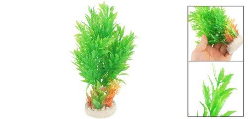 Amazon.com : eDealMax 6.7 Verde Naranja simulación de árboles Pastos agua W Base Redonda de cerámica : Pet Supplies