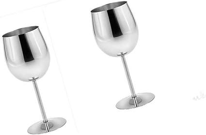 Acier Inoxydable Verres /à vin Incassable Gobelets Whisky Boissons Champagne Verres /à Cocktail