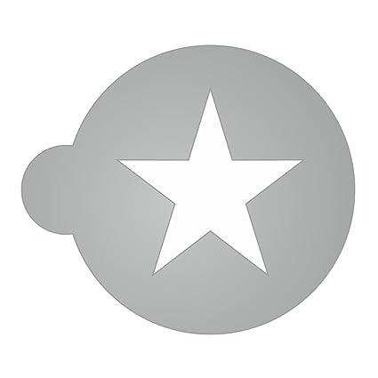 Plantillas Estrellas Para Decorar.Compra Plantilla Estrella Para Cafe Cacao Espuma De