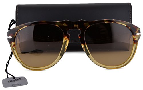 Persol PO0649S Sunglasses Ebano E Oro w/Polarized Brown Gradient Lens 1024M2 - Persol Polarized 0649