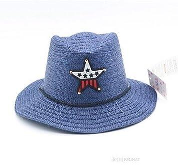 Sombrero Vaquero Hombre Adulto Panama Rancho Azul Estrella  Amazon.es   Deportes y aire libre 4706ab949e4