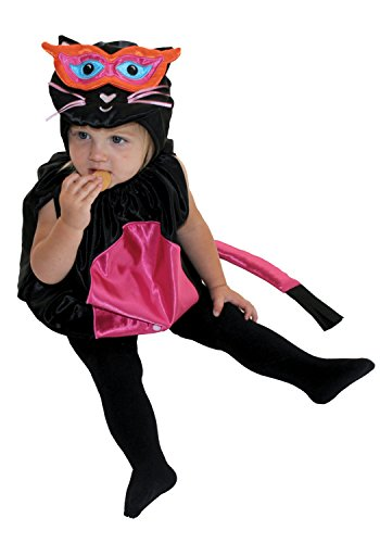 [AM PM Kids! Baby Girl's Kitty Cat Costume, Black/Pink, One Size] (Easy Halloween Costume To Wear To Work)