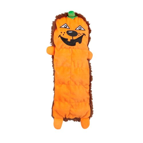 - Outward Hound Kyjen  2557 Squeaker Mat Pumpkin Halloween 8-Squeaker Plush Squeak Toy Dog Toys, Medium, Orange
