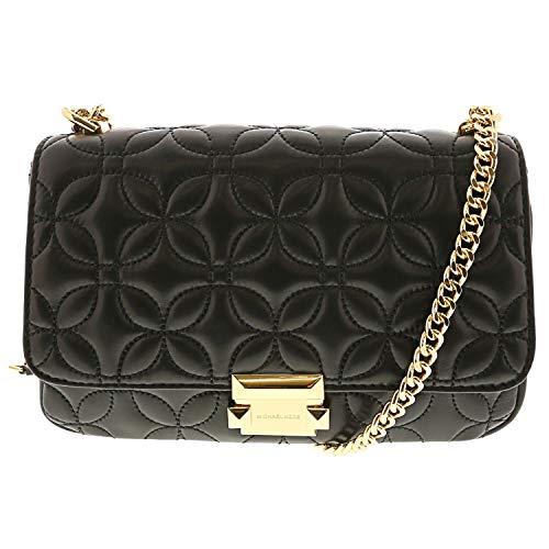 - Michael Kors Sloan Quilted Floral Chain Shoulder Bag BLACK