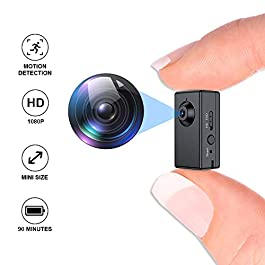 Mini Spy Camera,FUVISION Micro Camera with Motion Detect,1080P Full HD Hidden Camera with 1.5 Hours Battery Life,Hidden…