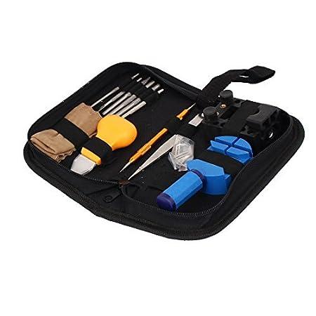 Caja de reloj eDealMax abridor Pin Banda removedor de la correa del ajustador del kit de reparación del sistema de herramienta 13 en 1 - - Amazon.com