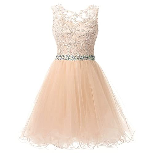 ac5def42b 80%OFF HEIMO Lace Beaded Homecoming Dresses Short Sequined Appliques  Cocktail Prom Gowns H122