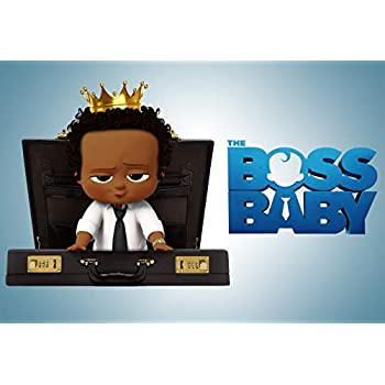 Eric 7x5ft Vinyl Black Boss Baby Theme Photo Backdrop African American Gold Crown Boy Birthday Photography Background Baby Boss Baby Shower Birthday