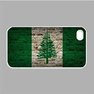 Norfolk Island Flag Brick Wall iPhone 5 White Case - Fits iPhone 5