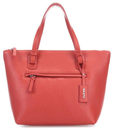 Brics X-Bag Pelle Borsa a mano rosso